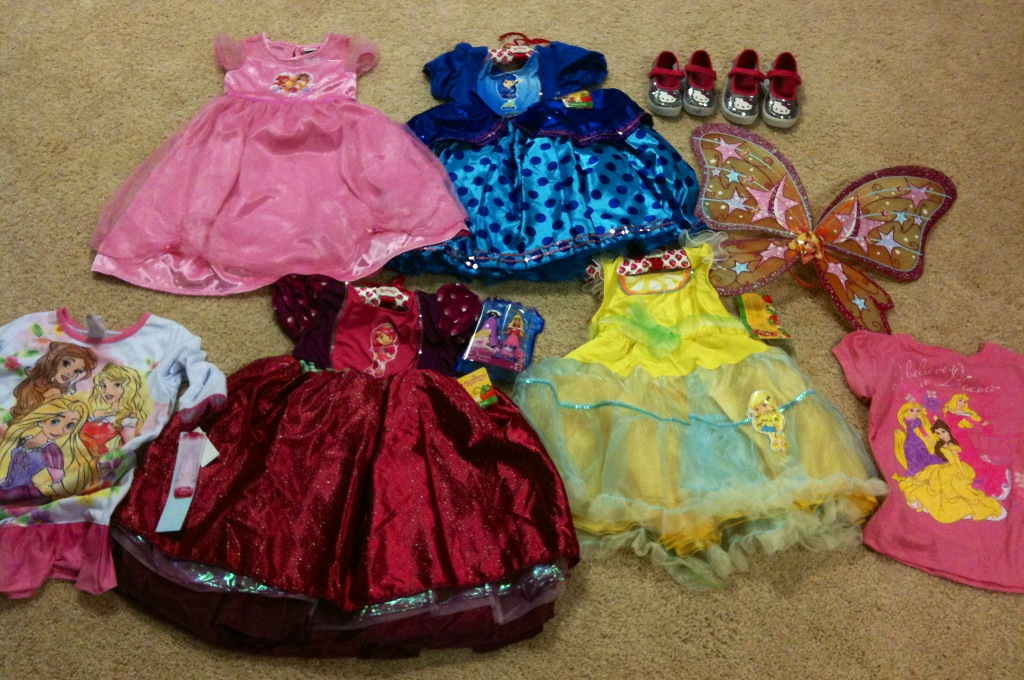 These are just the dress-up clothes that I bought.