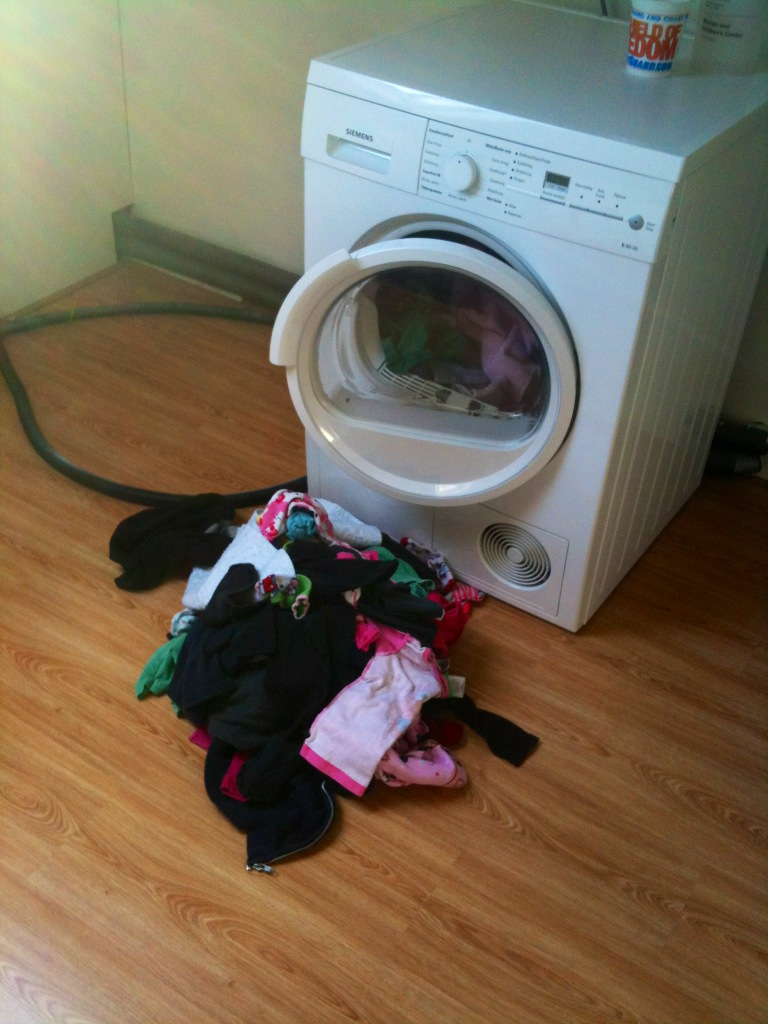 This is how my husband does the laundry.