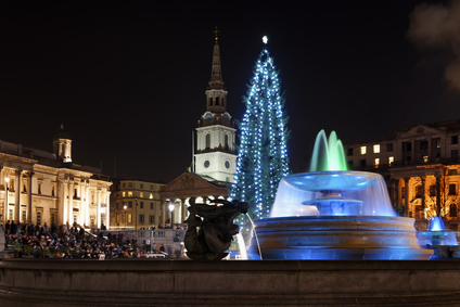 Christmas tree on Trafalgar Square, London